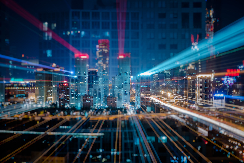 Building with lights digital transformation
