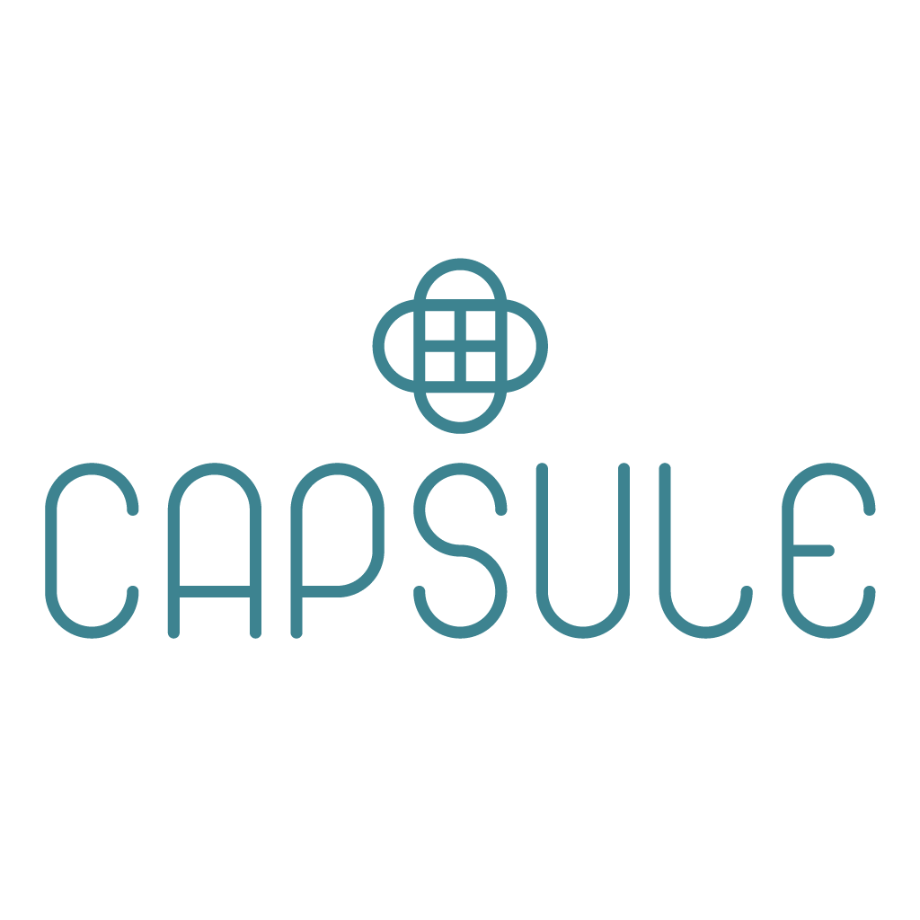 A logo spelling the word 'Capsule'
