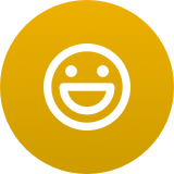 Yelloe icon of smiley face for employee engagement tools
