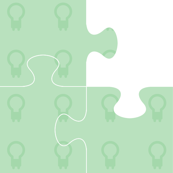 A jigsaw with a missing puzzle piece demonstrating how we plug knowledge gaps