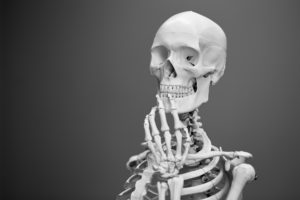 Skeleton representing the death of the LMS